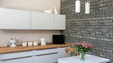 عکس از انتخاب بهترین کاغذ دیواری برای آشپرخانه