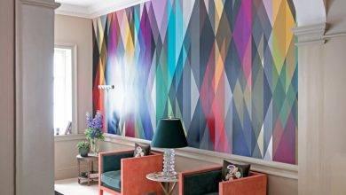 عکس از 6 ایده برای کاغذ دیواری مدرن