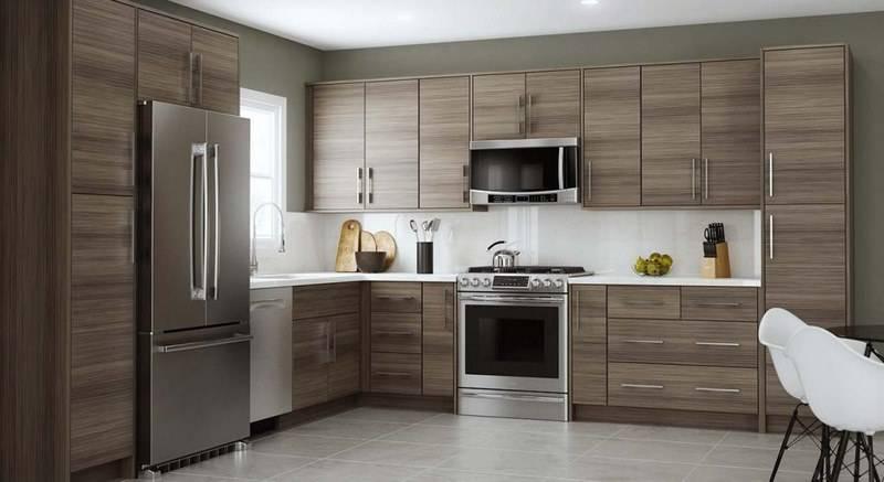 عکس از طراحی کابینت آشپزخانه سه بعدی همراه با اجرای کابینت