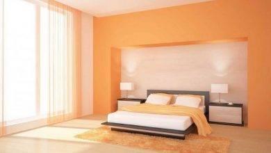 عکس از دکوراسیون اتاق خواب نارنجی