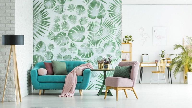 عکس از کاغذ دیواری بهتر است یا رنگ